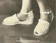 Crocheted Shoes - Free Crochet Pattern