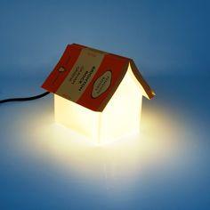 glass house lamp