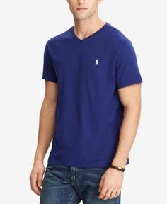 Polo Ralph Lauren Men's V-Neck T-Shirt - Yale Blue XXL