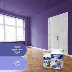 El color violeta transmite firmeza y sofisticación. También genera sensación de calma, si se lo combina con tonos más claros. DURAPRO te ofrece varios para que pintes tus espacios! probálos! www.durapro.com.ar/simulador-de-colores Color Violeta, Desktop Screenshot, Calm, Spaces, Home