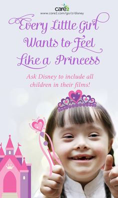 Info about a request (almost 60,000 parents) have signed to ask Disney to include representation of special-needs kids in their animation.  Visit to sign!