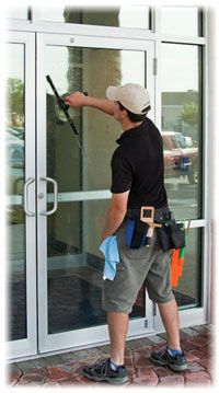 Commercial window cleaning: Keep your store front clean and ready to make a great first impression on everyone who walks through your door by scheduling weekly or monthly window cleaning service.