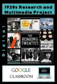 The 1920s Research and Multimedia Presentation project is a perfect way to implement Google Apps, Chromebooks, or any device AND research into your classroom! This dynamic resource is perfect for building a frame of reference for The Great Gatsby in ELA! US History teachers can utilize this product (along with the included webmix linking over 50 digital resources) while teaching students about the Roaring 20s!