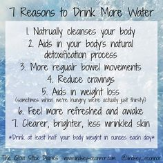 7 Reasons to Drink More Water :: The Glow Stick Diaries #health #diet #nutrition #water