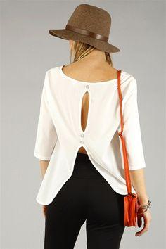 keyhole blouse, love the white. under $21.00