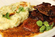 Krkovička v česnekovo-chilli marinádě Chef Gordon Ramsay, Pork Recipes, Pot Roast, Tandoori Chicken, Mashed Potatoes, Food And Drink, Beef, Cooking, Ethnic Recipes