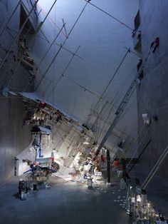 What about some crazy split levels with Girl on one floor and the Cave on the other!!!- Sarah Sze