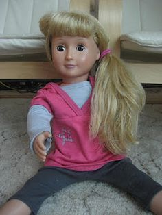 Pretty sure this just won me mom of the year. I used 50/50 fabric softner and water and a wire brust I got at sallys for 3 bucks. The dolls hair look brand new!!!!