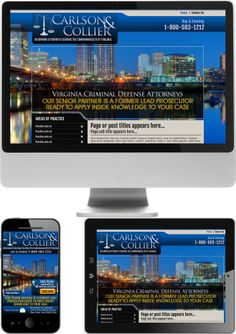 Virginia Criminal Defense Lawyers Carlson & Collier Website Design - Check out our newest portfolio designs at http://firstpageattorney.com/web-design-portfolio/