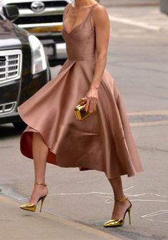 vestidos de fiesta-cortos, satén, color rosa