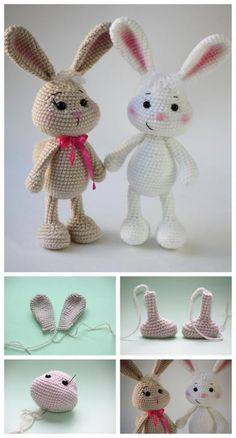 How to make amigurumi bunny amigurumi crochettoys tutorial howto diy handmade pdf Crochet pretty bunny amigurumi in dress – free pattern 63 free crochet bunny amigurumi patterns diy crafts – Artofit Amigurumi simple rabbit making Materials  2 mm cr Amigurumi Free, Amigurumi Tutorial, Amigurumi Doll, Amigurumi Patterns, Easter Crochet, Crochet Crafts, Crochet Dolls, Crochet Projects, Diy Crafts