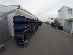 Ricciardo's tyres being hidden before Sunday's Grand Prix!