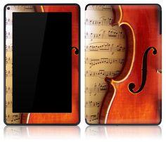 Amazon Kindle Fire Skin Cover - Violin