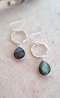 Labradorite earrings Labradorite Jewelry Gemstone