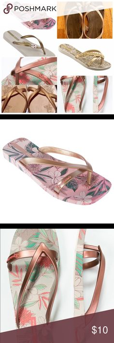 """IN SEARCH OF *~* ISO : Ipanema, Grendene Looking for any flip flops/sandals like the ones in the photos! Ideally searching for the original Ipanema by Gisele Bundchen """"Kirey"""" in brown & gold, but also looking for these other styles! Gold & brown are my favourite colours, but please tag me in anything you have! Also interested in similar Grendene, Grendha, """"Seeds"""" or """"Sementes"""" by Gisele. Sizes 7, 7.5, 8, & 8.5 ONLY! *I'm not selling these, only looking for them! Tag me @jedi_bunny87 Ipanema…"""