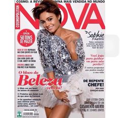 Adorable Brazilian actress Sophie Charlotte graces the cover of Cosmopolitan Brazil