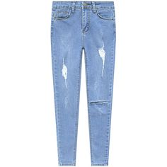 Low Waist Light Blue Ripped Denim Jeans (2,665 PHP) ❤ liked on Polyvore featuring jeans, pants, bottoms, denim, destructed jeans, torn jeans, distressed jeans, denim jeans and blue jeans