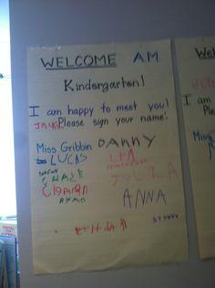 Welcome! #kindergarten