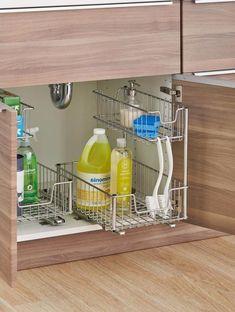 Sliding Undersink Pull-Out Organizer Cabinet Kitchen Storage Home Furniture #organizer