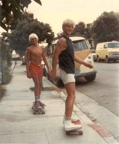 Blonde tanned skaters + Converse + vans = 1970s' California ?