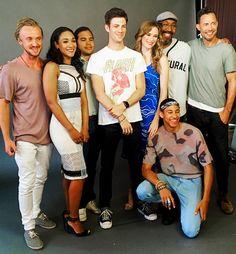 The Flash cast at Comic Con