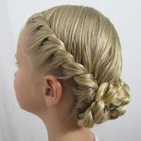 Tons of hairstyles for girls... French Twisted Updo from BabesInHairland.com