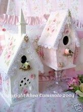 Pastel birdhouses, nice for an Easter display