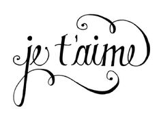 calligraphy je t'aime - ich liebe dich - I love you Dear Lillie, Poster S, Grafik Design, I Tattoo, Tattoo Cake, Tattoo Pics, Wrist Tattoo, Tattoo Blog, Forearm Tattoos