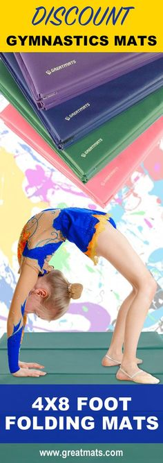 Greatmats offers 4x8 foot by 1.5 inch folding gymnastics mats at an extreme discount. Take a look.