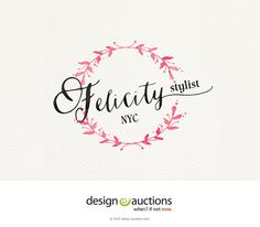 premade logo design watercolor logo by designauctionsnow on Etsy
