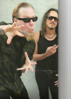 James Hetfield and Kirk Hammett <3 <3