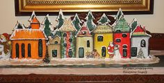 """Δια χειρός...  μεταμορφώσεις"": Christmas Village Christmas Fonts, Decoupage Art, Painting, Painting Art, Paintings, Painted Canvas, Drawings"