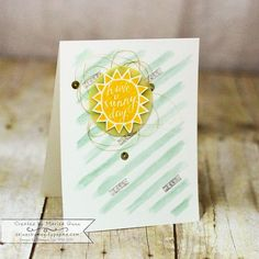 TGIFC15 Color Challenge featuring the Silhouettes and Script stamp set from Stampin' Up! by Marisa Gunn