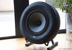 A tire transformed into a recycled tire speaker. | For more pins on DIY Portable Speakers, follow Best Buy Portable Speakers (www.pinterest.com/bestbuyspeakers/)