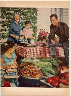 barbecue picnic for picnic Vintage Ads, Vintage Posters, Vintage Photos, Vintage Food, Retro Ads, Vintage Stuff, Vintage Advertisements, Retro Recipes, Vintage Recipes