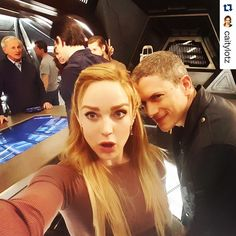 Wentworth Miller and Caity Lotz. So awesome!