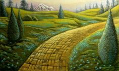"""""""The road to the City of Emeralds is paved with yellow brick,"""" said the Witch, """"so you cannot miss it."""" The Wonderful Wizard of Oz Books have. Wizard Of Oz Book, Brick Path, Yellow Brick Road, The Wiz, Amazing Art, Paths, Book Art, Deviantart, Adventure"""