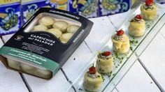 Corazón de Alcachofa de Caprichos, rellena con mantequilla de sardinas