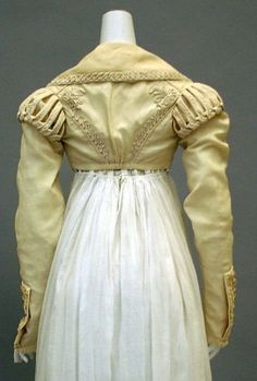 Yellow/ gold spencer 1820. Met museum