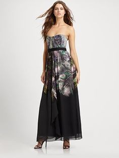 BCBG Silk Gown #saksfifthavenue