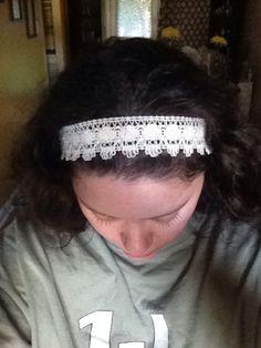 Lace headband, rustic