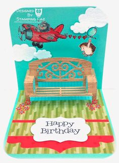 Karen Burniston bench die birthday card