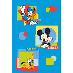 Printed Tufted - Vasilas Home. Mickey Mouse - Donald Duck - Pluto