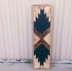 Reclaimed Barn wood Chevron arrow herringbone navajo Wall art, coffee table, wall panel. rustic, minimalist, farmhouse