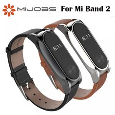 Mijobs Strap For Xiaomi Mi Band 2 Leather Strap Wrist Straps Screwless Bracelet Smart Band Replace Accessories For Mi Band 2 Watch Photo, Mobile Accessories, Leather Material, Red Gold, Watch Bands, Pu Leather, Smart Watch, Bracelets, Free Shipping