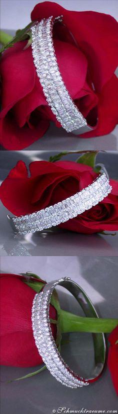 Noble Diamond Bangle,  5,80 cts. g-vsi WG18K - Visit: schmucktraeume.com - Like: https://www.facebook.com/pages/Noble-Juwelen/150871984924926 - Mail: info@schmucktraeume.com