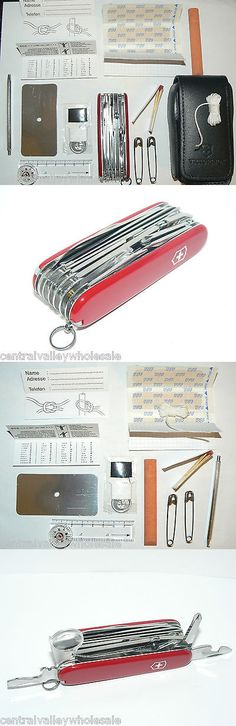 Multi-Tools 66824: New Victorinox Swiss Army 91Mm Knife Red Swisschamp + Sos Kit + Pouch 53511 BUY IT NOW ONLY: $159.99