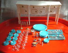 "Little Hostess Buffet Set for 11 1/2"" Dolls by Marx, 1960's"