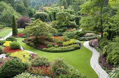 Designer Ideas for Environment Friendly Gardens | Designbuzz : Design ideas and concepts Vancouver Islands, Canada, Victoria Bc, Bedrooms Design, Colors Schemes, Places, Landscapes Design, British Columbia, Butchart Gardens