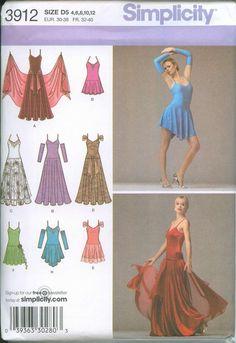 Salsa Dress Dancer SEWING PATTERN Simplicity 3912 Size 4-12 OOP